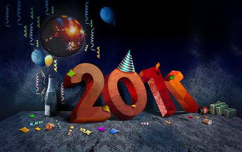 2011 3 40+ High Quality Colorful 2011 New Year Wallpapers