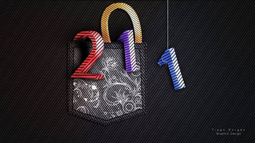 2011 3d 40+ High Quality Colorful 2011 New Year Wallpapers