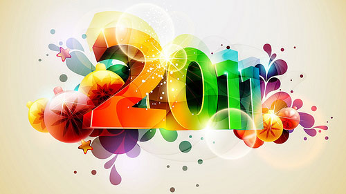 2011 colorful wallpaper 40+ High Quality Colorful 2011 New Year Wallpapers