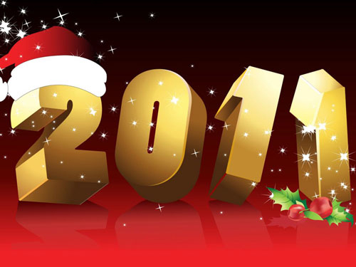 2011 new year 40+ High Quality Colorful 2011 New Year Wallpapers
