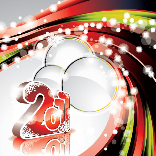 2011 new year wallpaper vector 40+ High Quality Colorful 2011 New Year Wallpapers