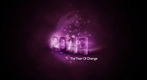 2011 the year of change 40+ High Quality Colorful 2011 New Year Wallpapers