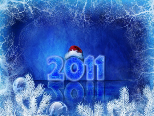 christmas 2011 wallpaper 40+ High Quality Colorful 2011 New Year Wallpapers