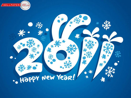 happy new year 40+ High Quality Colorful 2011 New Year Wallpapers