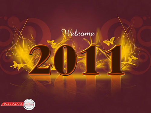happy new year 2011 40+ High Quality Colorful 2011 New Year Wallpapers