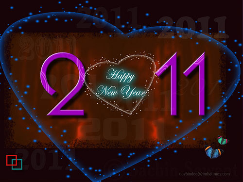 happy new year 2011 3 40+ High Quality Colorful 2011 New Year Wallpapers