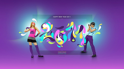 happy new year 2011 wallpaper 40+ High Quality Colorful 2011 New Year Wallpapers