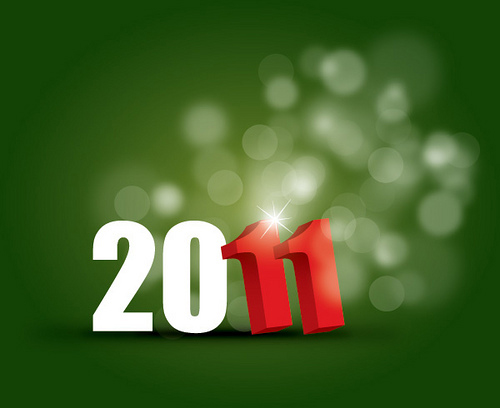 new year 2011 40+ High Quality Colorful 2011 New Year Wallpapers