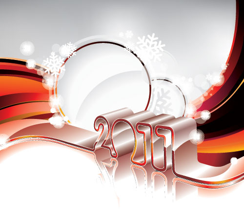 new year greeting card post card 40+ High Quality Colorful 2011 New Year Wallpapers