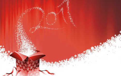 shinig stars 2011 40+ High Quality Colorful 2011 New Year Wallpapers