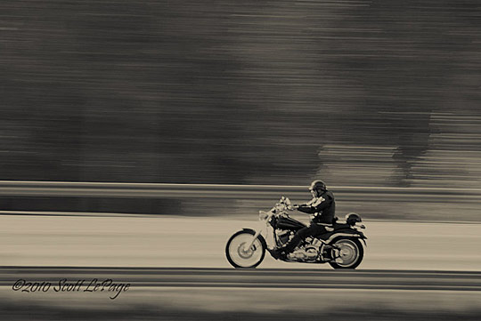Motorcycle at Speed