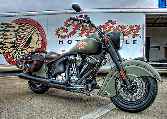 Cool NEW Indian Motorcycle at the Southeastern Nationals