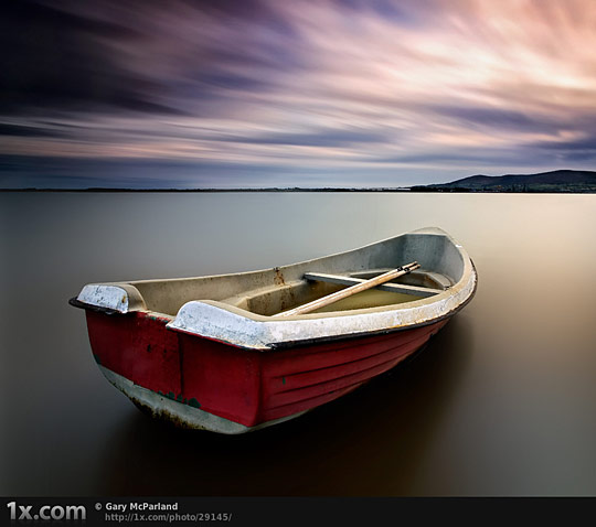 Red Row Boat