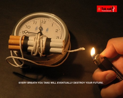 Anti smoking campaign3 by danieltty881 500x400 40 Incredibly Creative Anti Smoking Advertisements