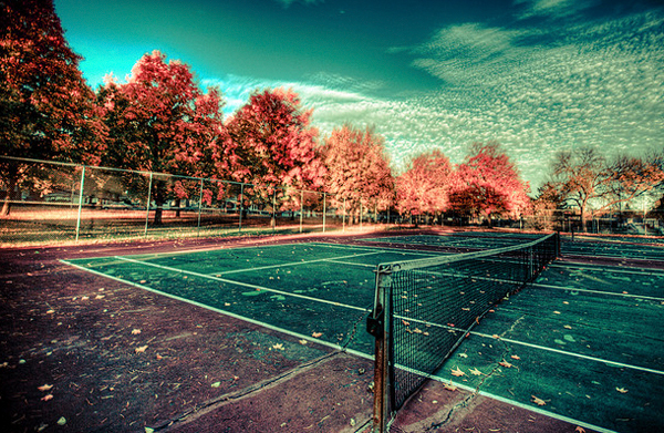 Fall at The Tennis Court