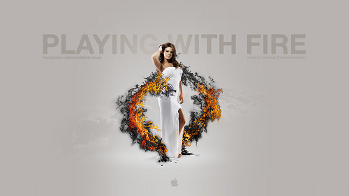 Mac wallpapers - Playing with fire