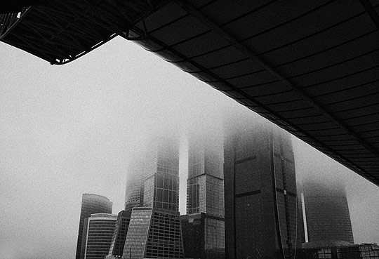 Fog in Moscow city