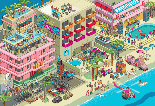 FAC miami entw s141 882x607 500x344 30 Dazzling Examples of Pixel Art by Eboy