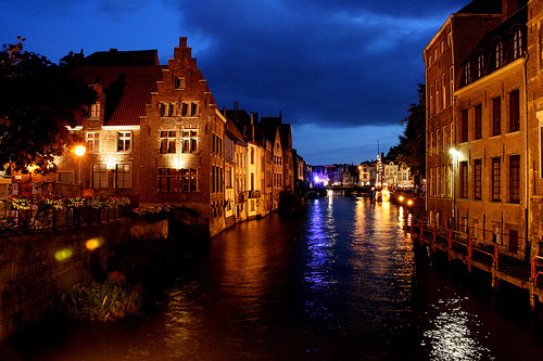 Ghent by night1 20 Stunning Cityscape Nighttime Photographs