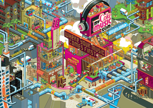 MTH MyCokePitch 41wk1 882x623 500x353 30 Dazzling Examples of Pixel Art by Eboy