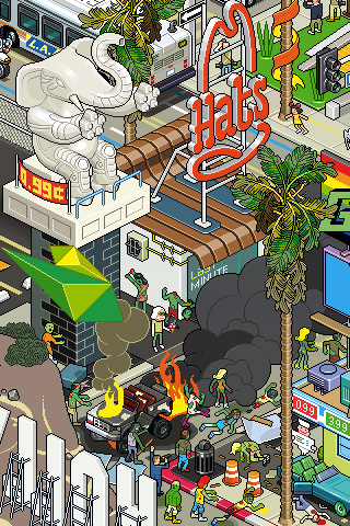 hollywood 30 Dazzling Examples of Pixel Art by Eboy