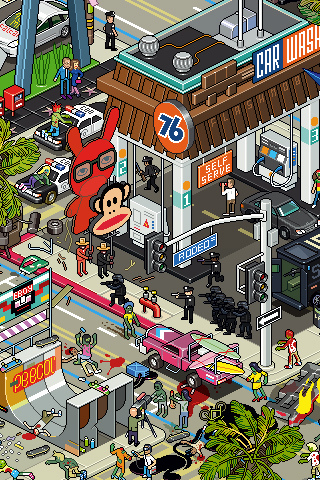 los angeles 30 Dazzling Examples of Pixel Art by Eboy