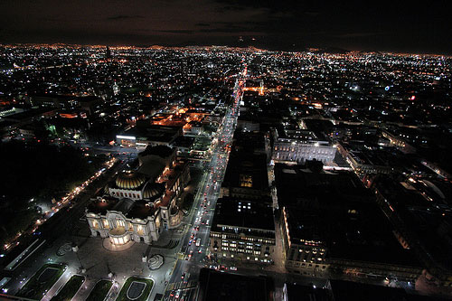 mexico city at night1 20 Stunning Cityscape Nighttime Photographs