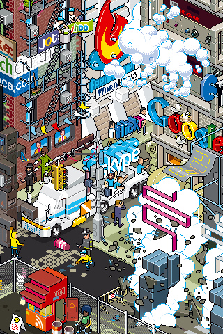 social networking2 30 Dazzling Examples of Pixel Art by Eboy