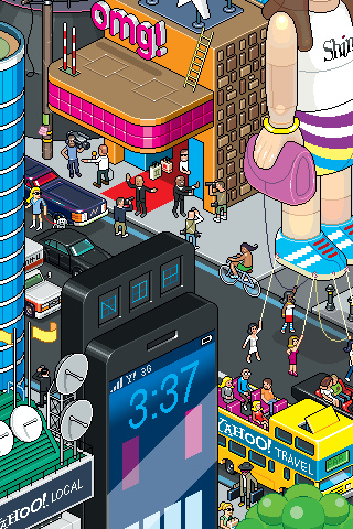 yahoo omg 30 Dazzling Examples of Pixel Art by Eboy