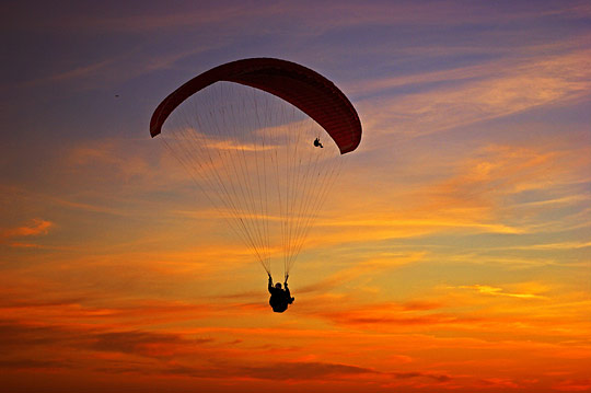 Paragliding in Le Havre France