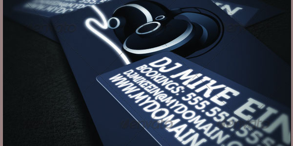 Super Style DJ Business Cards