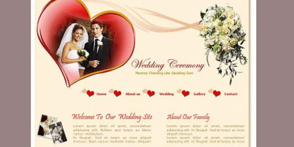 Free Wedding Ceremony Website Template