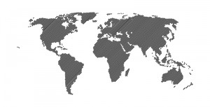 Vector 45 Degree Lines World Map