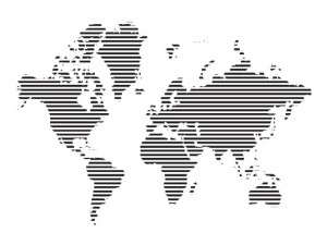 World Lined Map Vector