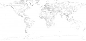 Countries, States, and Provinces Map Vector