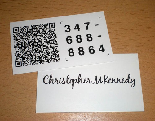 QR Code Business Card