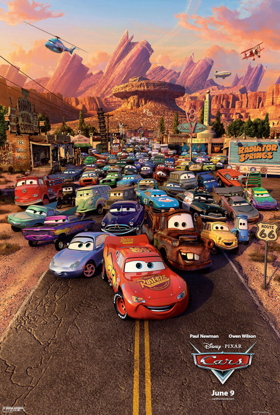 cars movie poster 04 50+ Striking Posters of Animated Movies
