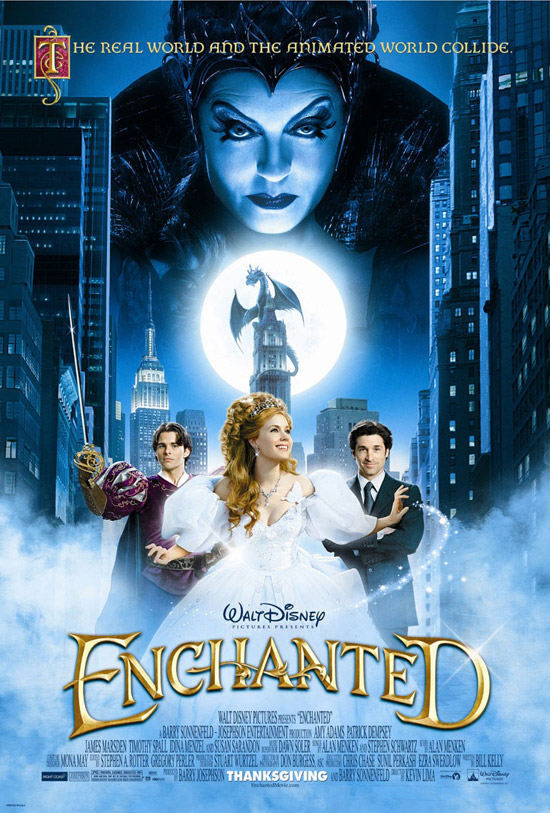 enchantedposter1 50+ Striking Posters of Animated Movies