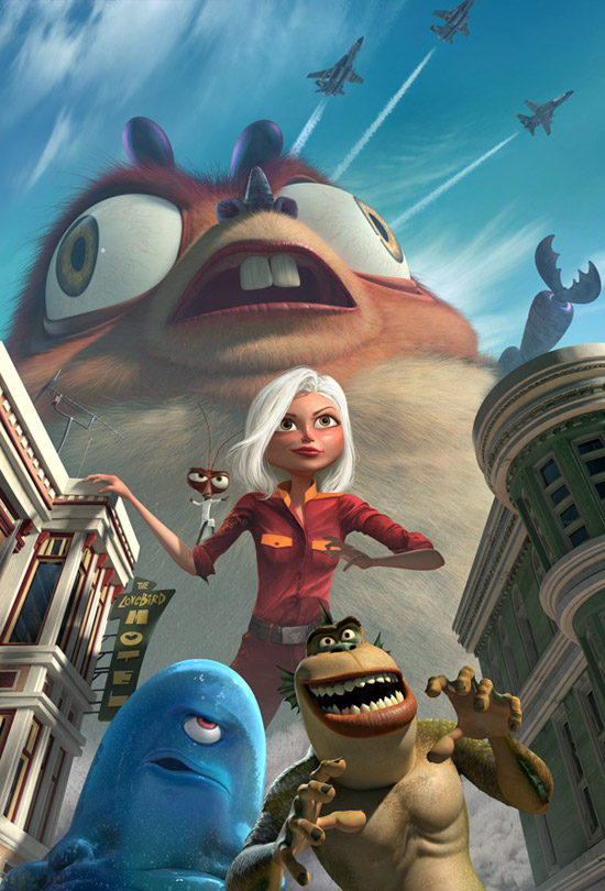 monsters vs. aliens in 3d 50+ Striking Posters of Animated Movies