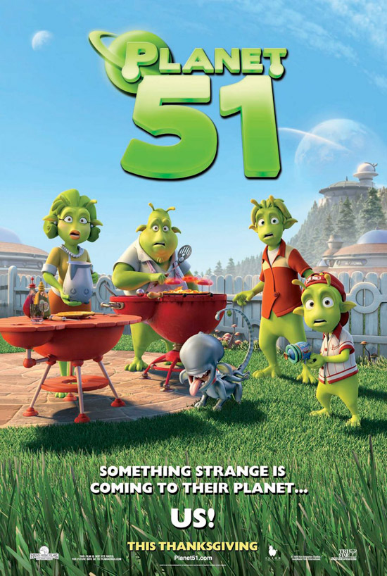 planet 51 movie poster high res 50+ Striking Posters of Animated Movies