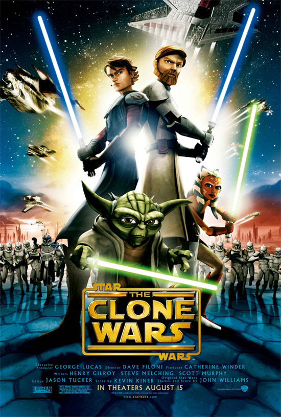 star wars the clone wars movie poster 50+ Striking Posters of Animated Movies