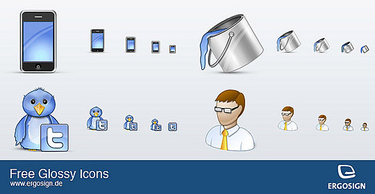 Free Icons for twitter, iPhone and more