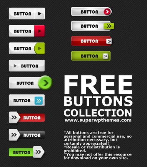 Free Button PSD Second Collect