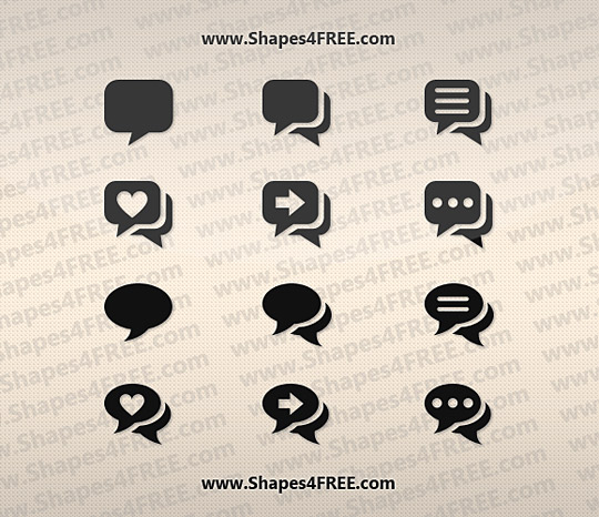 12 Pretty Chat Photoshop Shapes
