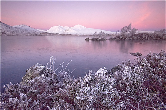 Pink glow on the Black Mount