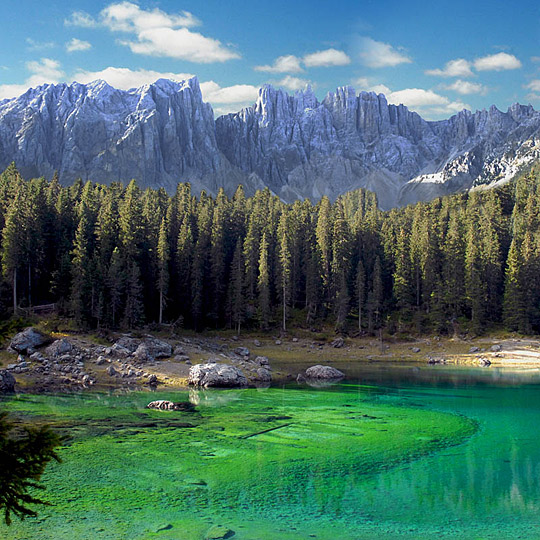 Carezza Lake ... Latemar Dolomites