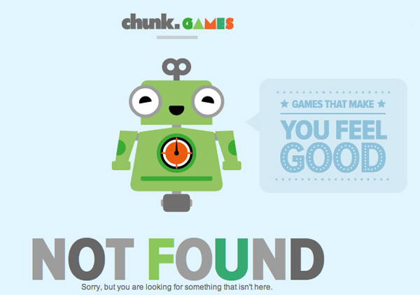 chunk games 40 Clever Yet Creative 404 Error Designs