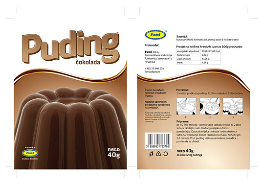 Pudding packaging