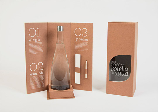 This is not a bottle of water // Packaging