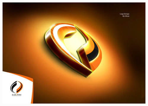 Designing Mall - 3D Creative Logo for Inspiration